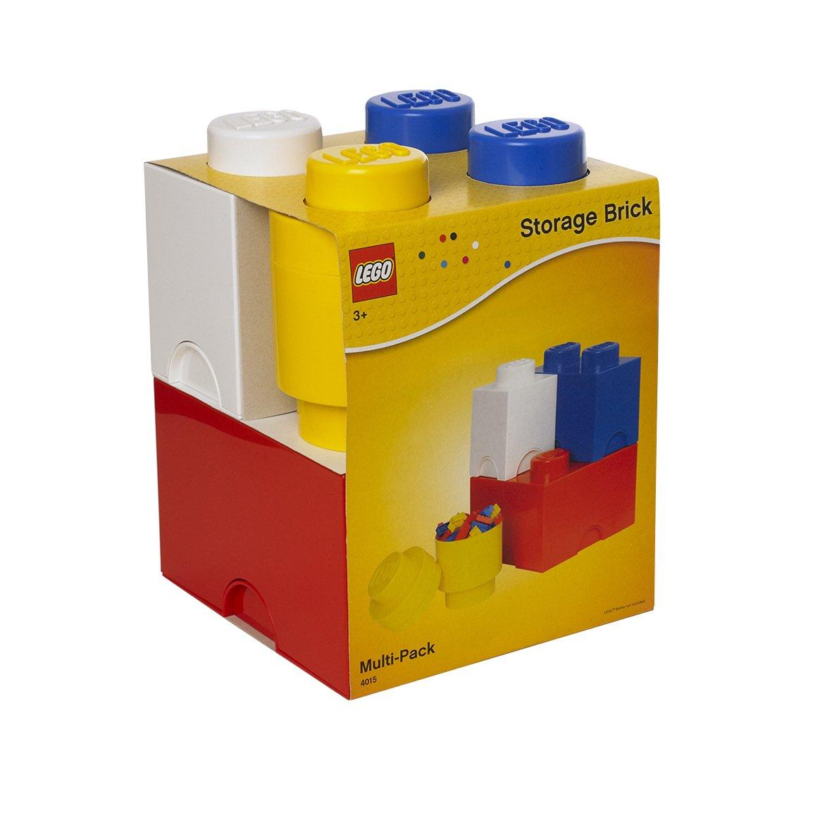 Room Copenhagen 40150001 Multipack de Ladrillos de Almacenamiento de Lego, Largo. Cajas de almacenaje apilables. Conjunto de 4 Piezas, One Size 5711938024871