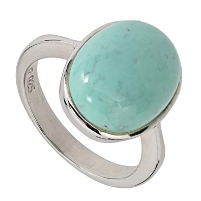 bague solitaire turquoise