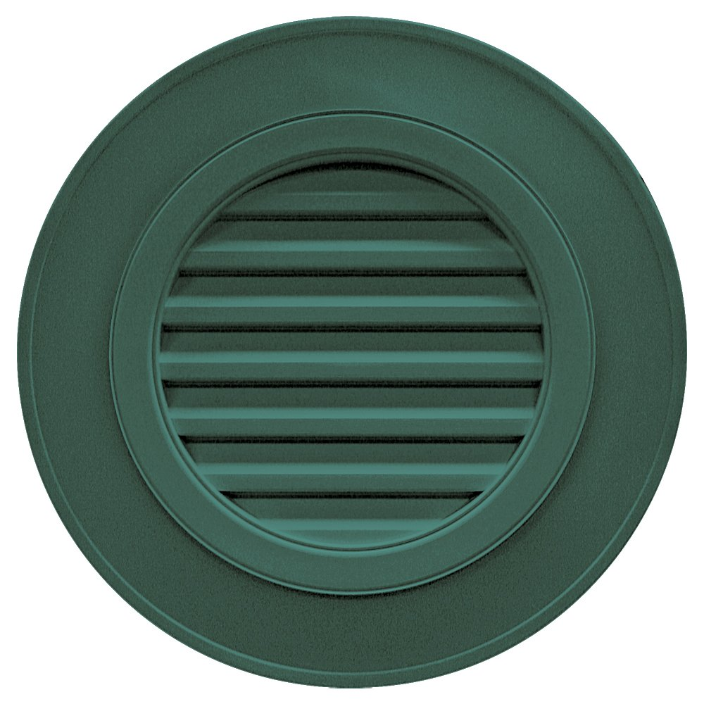 Builders Edge 120032828028 28'' Round Vent Designer without Keystones 028, Forest Green