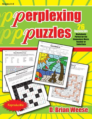Workbook elementary art worksheets : Perplexing Puzzles: 26 Reproducible Worksheets Perfect for the ...
