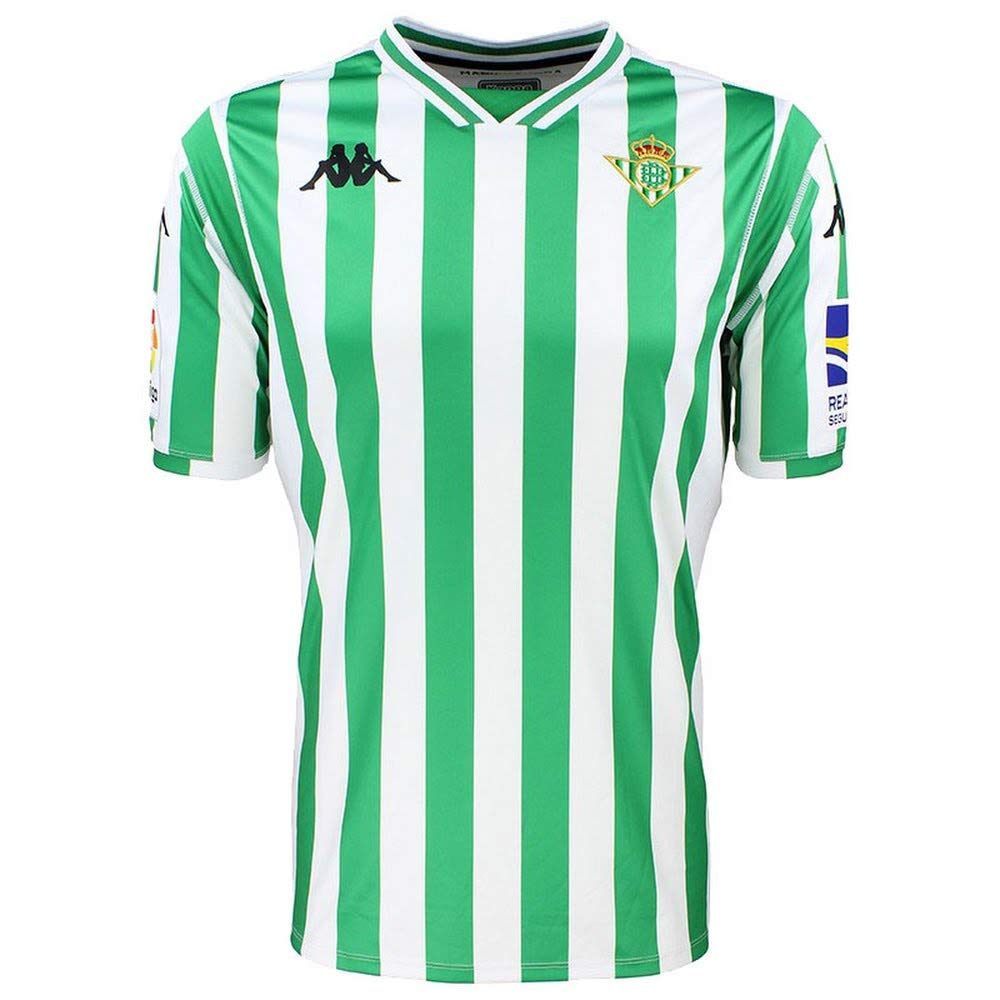 Kappa 2018-2019 Real Betis Home Football Soccer T-Shirt Maglia