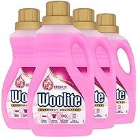 Woolite - Detergente para prendas delicadas, lavado a mano y a máquina, 15 lavados, 750 ml (paquete de 4)