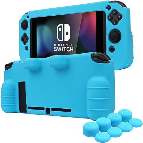 YoRHa EMPUÑADURA silicona caso piel Fundas protectores cubierta para Nintendo Switch x 1 (azul) Con Joy-Con los puños pulgar thumb gripsx 8: Amazon.es: Videojuegos