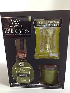 WoodWick - 3oz Trio Gift Set - Apple Basket