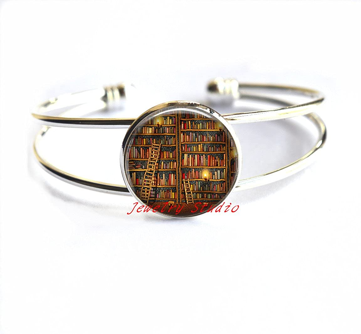 Librarian Gift Teacher Gift,books gift writer teacher gift-HZ0024 Book Club Gift Charming fashion Bracelet,Library Book Bracelet Book Jewelry Book Bracelet