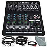 Mackie Mix Series Mix8 8-Channel Compact Mixer and Basic Bundle...
