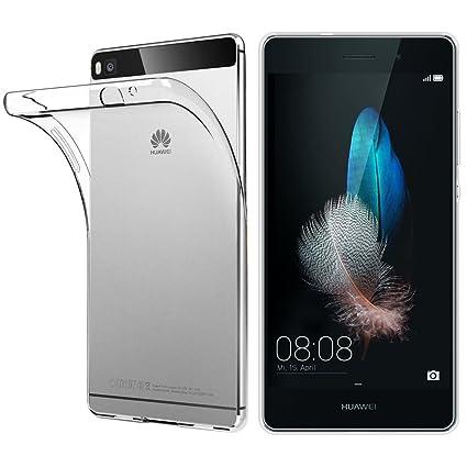 ebestStar - Funda Huawei P8 Lite Carcasa Silicona, Protección Crystal Clear TPU Gel, Ultra Slim Case, Transparente [Aparato: 143 x 70.6 x 7.7mm, ...