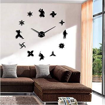 Amazon.com: Lifme Shinobi Japon Ninja DIY Giant Wall Clock ...