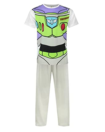 Disney Toy Story Buzz Lightyear Costume Mens Pyjamas (XL)