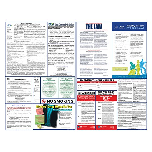 2017 Florida State And Federal Labor Law Poster Set   Laminated   All In One Osha   Fl Compliant  Laminated