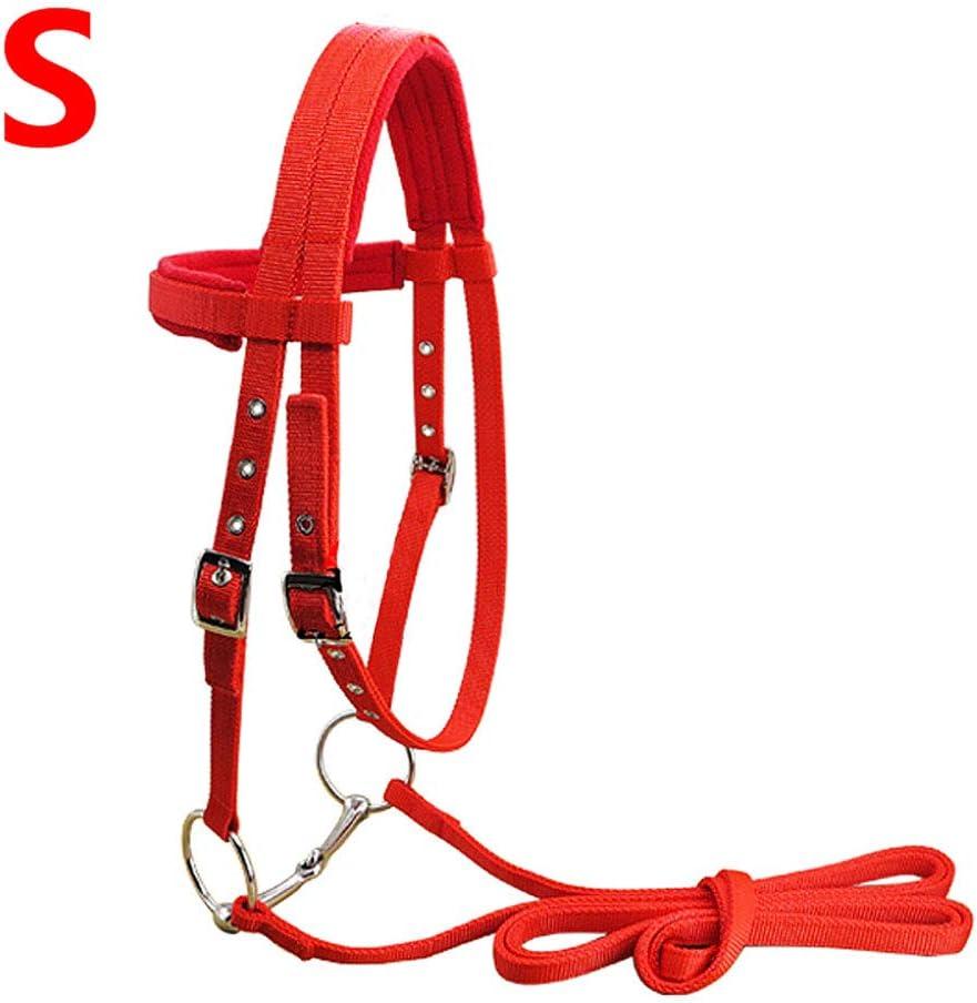 GCSEY Ajustable Hípica Equipo Halter Brida Caballo con Cabestro Y Rein Cinturón De Caballo Ecuestre Accesorios Soft Espesar