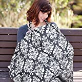 Nursing Cover,UHINOOS Lightweight Breathable 100% Cotton Breastfeeding Cover, Nursing Apron for Breastfeeding - Rigid Neckline, Full Coverage and Adjustable Strap