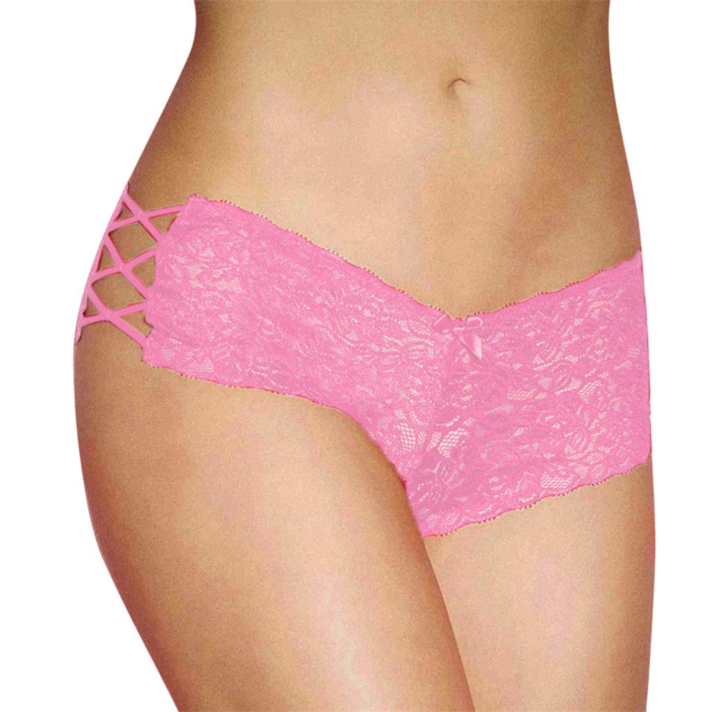 VANSOON Lingerie for Women Plus Size Lingerie Sexy Erotic Panties Lace Hollow Out Briefs Underwear Tangas Thongs