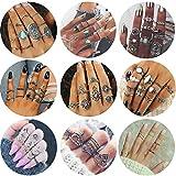 Adramata 82 Pcs Vintage Knuckle Rings for Women Girls Stackable Midi Finger Ring Set