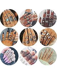 Adramata 82 Pcs Vintage Knuckle Rings Women Girls Stackable Midi Finger Ring Set