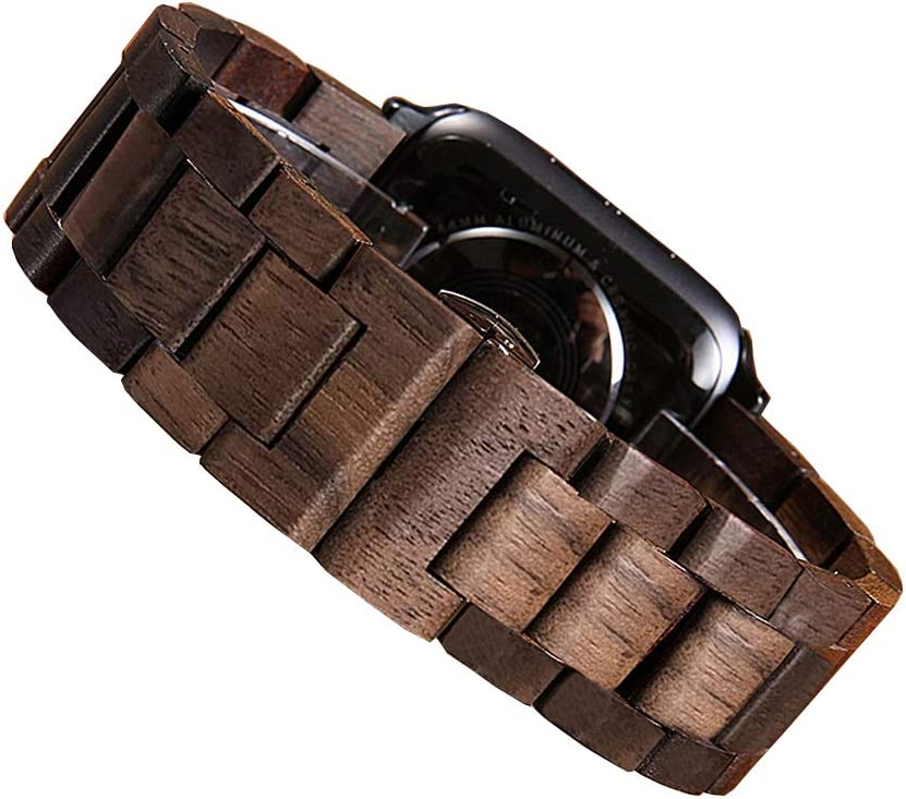 Makani Wooden Watch Band Compatible with Apple Watch Made with Walnut Wood (38mm/40mm)