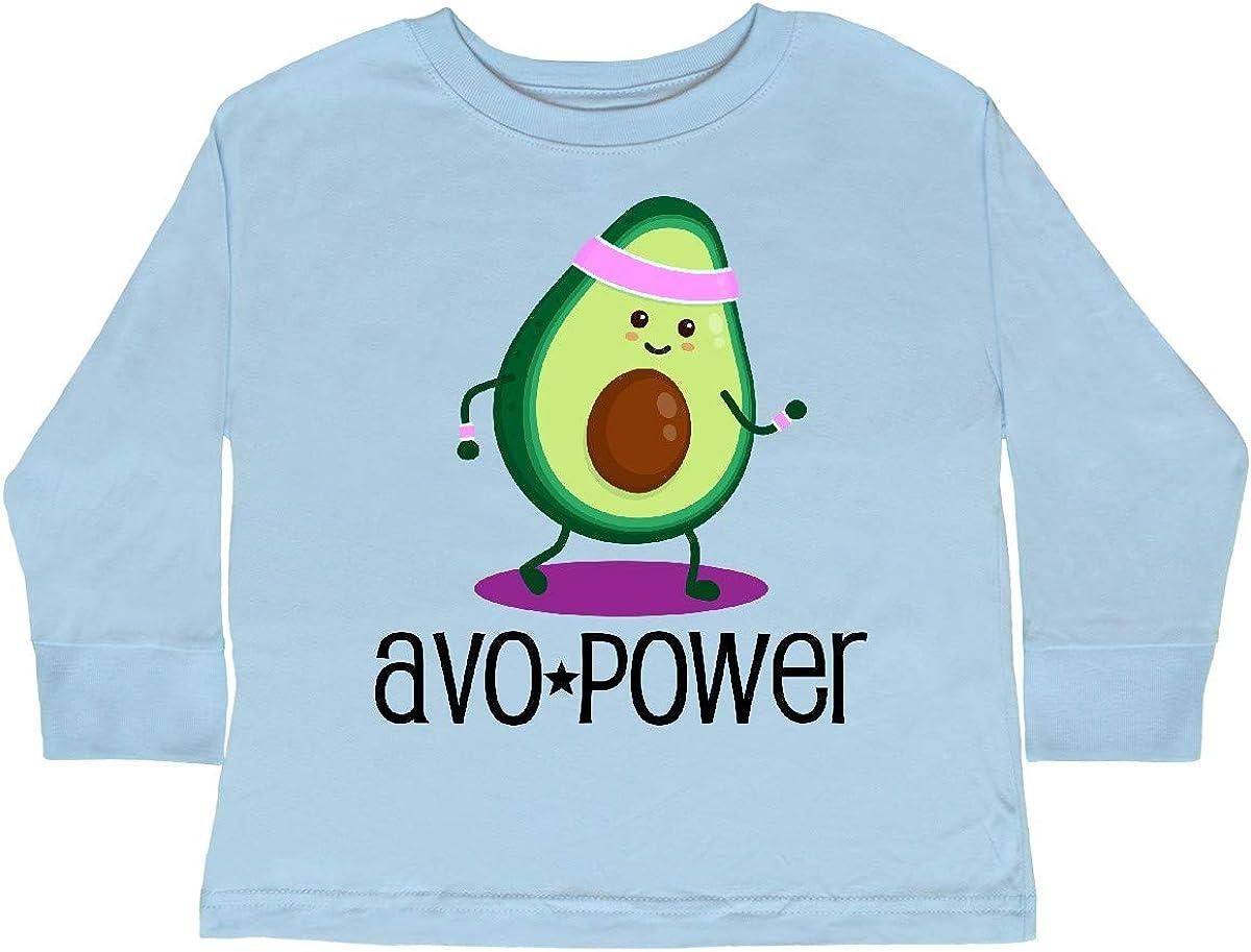 inktastic Avocado Vegan AVO Power Toddler Long Sleeve T-Shirt
