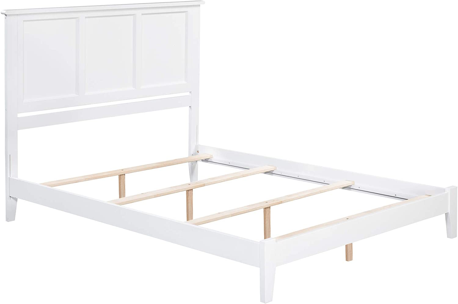 Atlantic Furniture Madison Traditional Bed, Queen, White