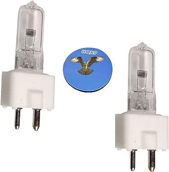 HQRP 2-Pack 24V 150W Halogen Bulb GY9.5 Dentistry Dental Lamp for Porter Daystar S-90B + HQRP Coaster