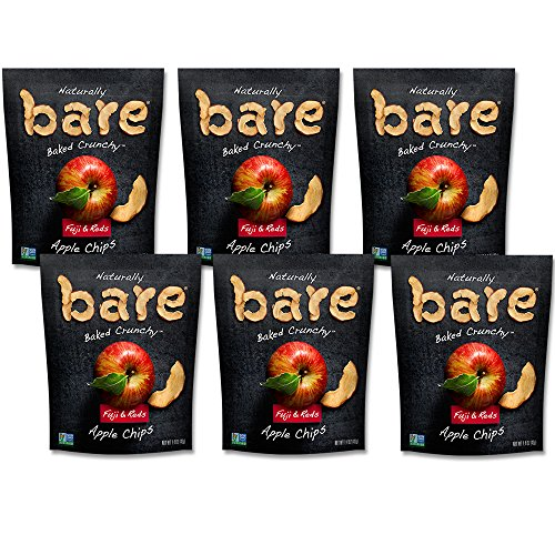 (Bare Baked Crunchy Apple Chips, Fuji & Reds, Gluten Free, 1.4 Ounce Bag, 6 Count )