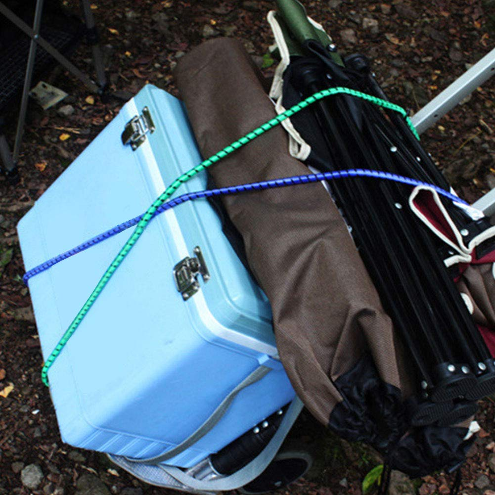 Juego de 6 Cuerdas el/ásticas para Equipaje Accesorios para Tienda de campa/ña SYN Clothesline Herramientas port/átiles de Camping y Viajes para Exteriores Ganchos Dobles