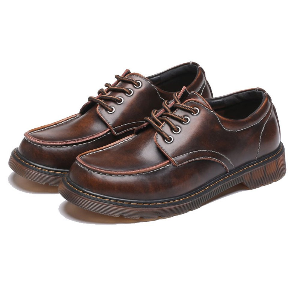 IWGR Herrenschuhe Echtes Leder Lece Lece Lece Up Laufsohle Oxfords Niedrige Stiefeletten für Herren, die Schuhe Fahren (Farbe   Braun, Größe   41 EU) 9ed094
