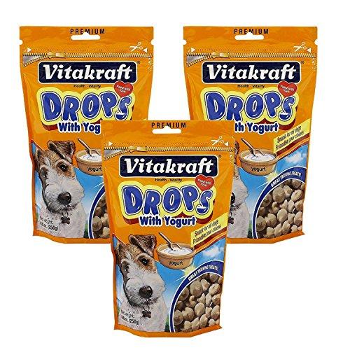 (VitaKraft Drops with Yogurt Dog Treat Snacks - 3 PACK)