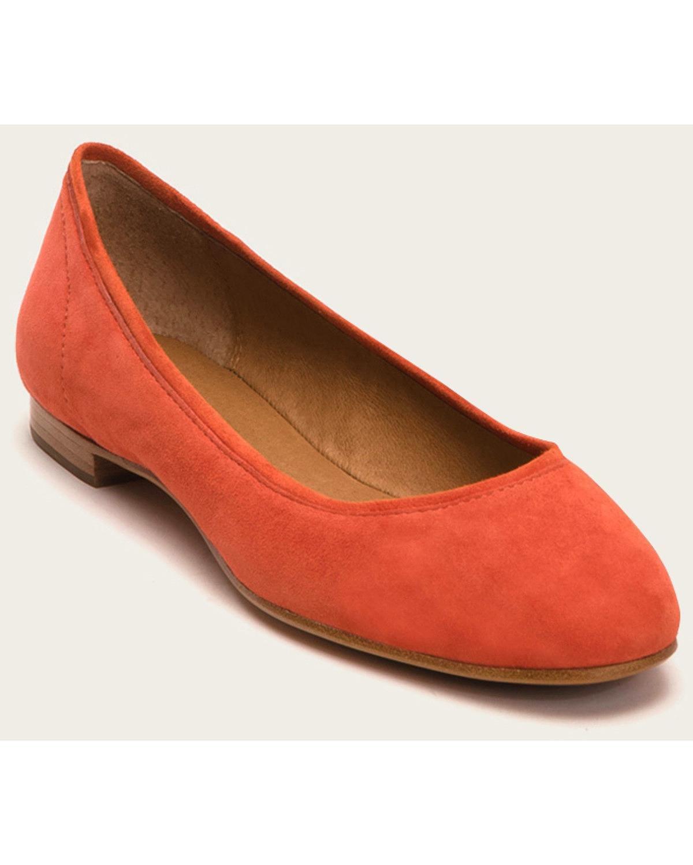Frye Women's Gloria Ballet Flats B01JV66FSO 6 B(M) US Coral