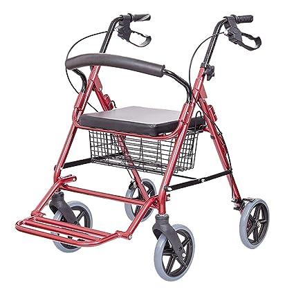 Carritos de la compra Mayor Silla de Ruedas Plegable Carrito de Ancianos Scooter de aleación de