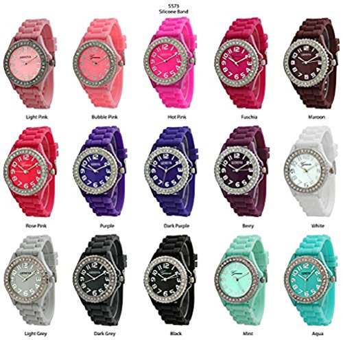 Geneva Platinum Womens Watch - Wholesale 12 Assorted Geneva Women's Watches