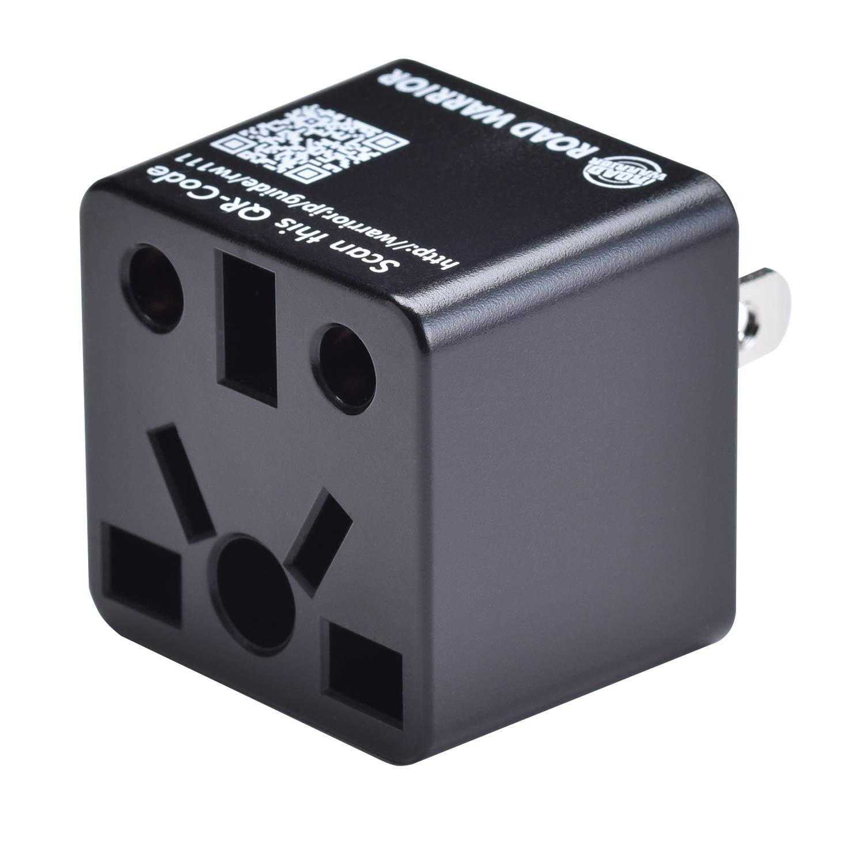ROAD WARRIOR US Travel Plug Adapter EU/UK/CN/AU/IN to USA (Type A) - RW111BK-US