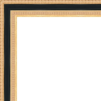 Amazon.com - 26x36 - 26 x 36 Traditional Gold with Black Solid Wood ...