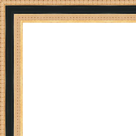 Amazon.com - 8x24 - 8 x 24 Traditional Gold with Black Solid Wood ...