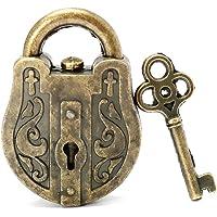 Leikance Vintage metalen slot met,Sleutel puzzel speelgoed educatief speelgoed geest hersenen teaser Kids Gift
