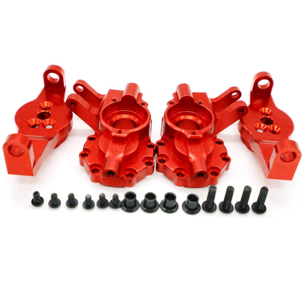 Binory Aluminum Caster Block+Portal Drive Housing Inner Front for Traxxas TRX-4 1/10 RC(Red)