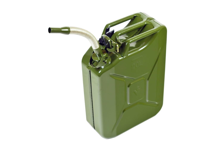 hünersdorff Metall-Auslaufrohr flexibel 20mm für Metall-Kraftstoff-Kanister, silber/oliv H&G 435400