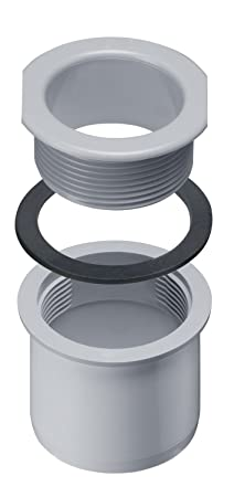 set completo INEFA tubo di curva a 67-90/° larghezza nominale 50 mm grondaie Bianco pezzo grondaia