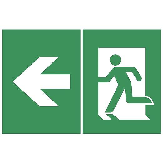 Salvavidas Cartel Símbolo: Flecha/Salida de emergencia ...