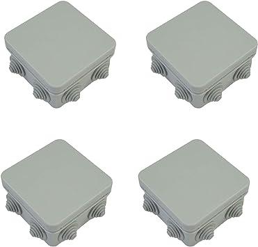 ELS - Caja de conexiones de 7 vías, conectores impermeables IP 55 para iluminación exterior caja de conexiones φ 6,5 – 10,5 mm, 4 unidades, color blanco: Amazon.es: Bricolaje y herramientas