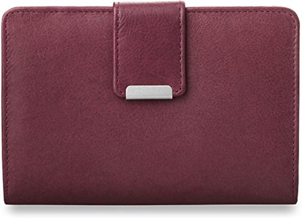 Unbekannt Práctico - Billetera de Cuero para Mujer púrpura Medio
