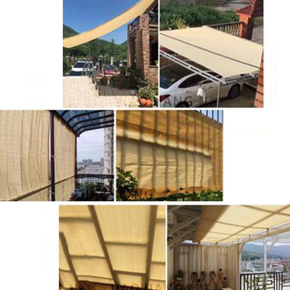 PENGFEI Malla Sombra, 90% Resistente A Los Rayos UV Lona de Malla Resistente para Jardín, Cubierta De Plantas, Cochera Paño De Sombra De Sol, 6 Puntos (Color : Beige, Size : 2x5m): Amazon.es: Hogar