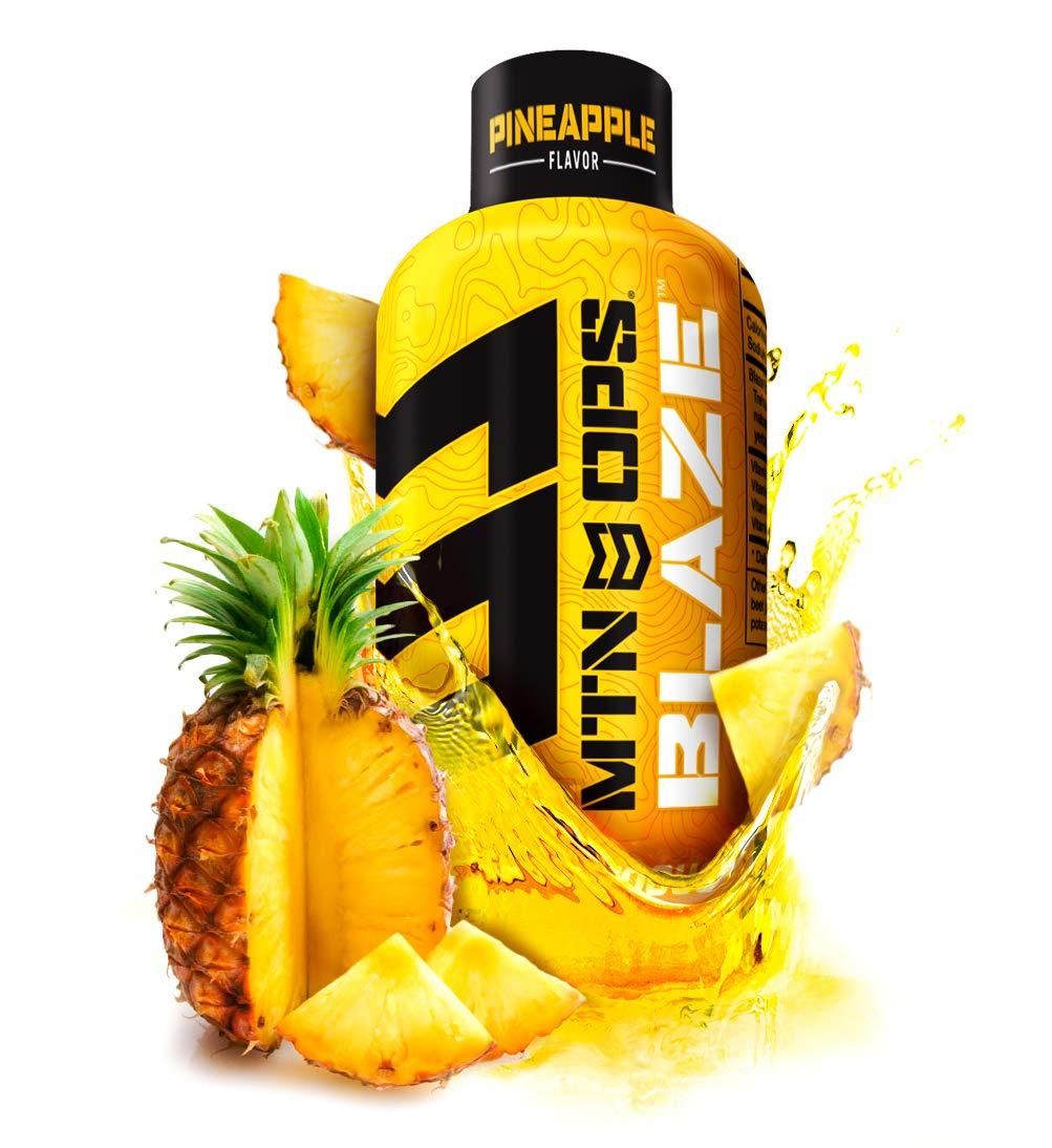 MTN OPS Blaze Energy Shots, Pineapple, 12-Shot Pack