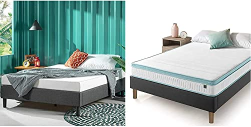 ZINUS Curtis Upholstered Platform Bed Frame