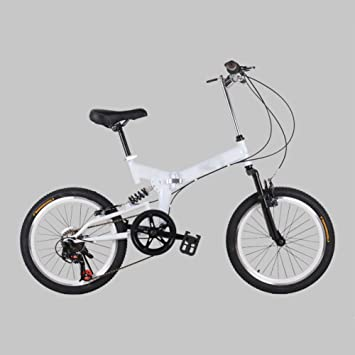 YEARLY Adultos bicicleta plegable, Montaña bicicleta plegable Velocidad 7 Bicicleta plegable Hombres y mujeres Bicicleta