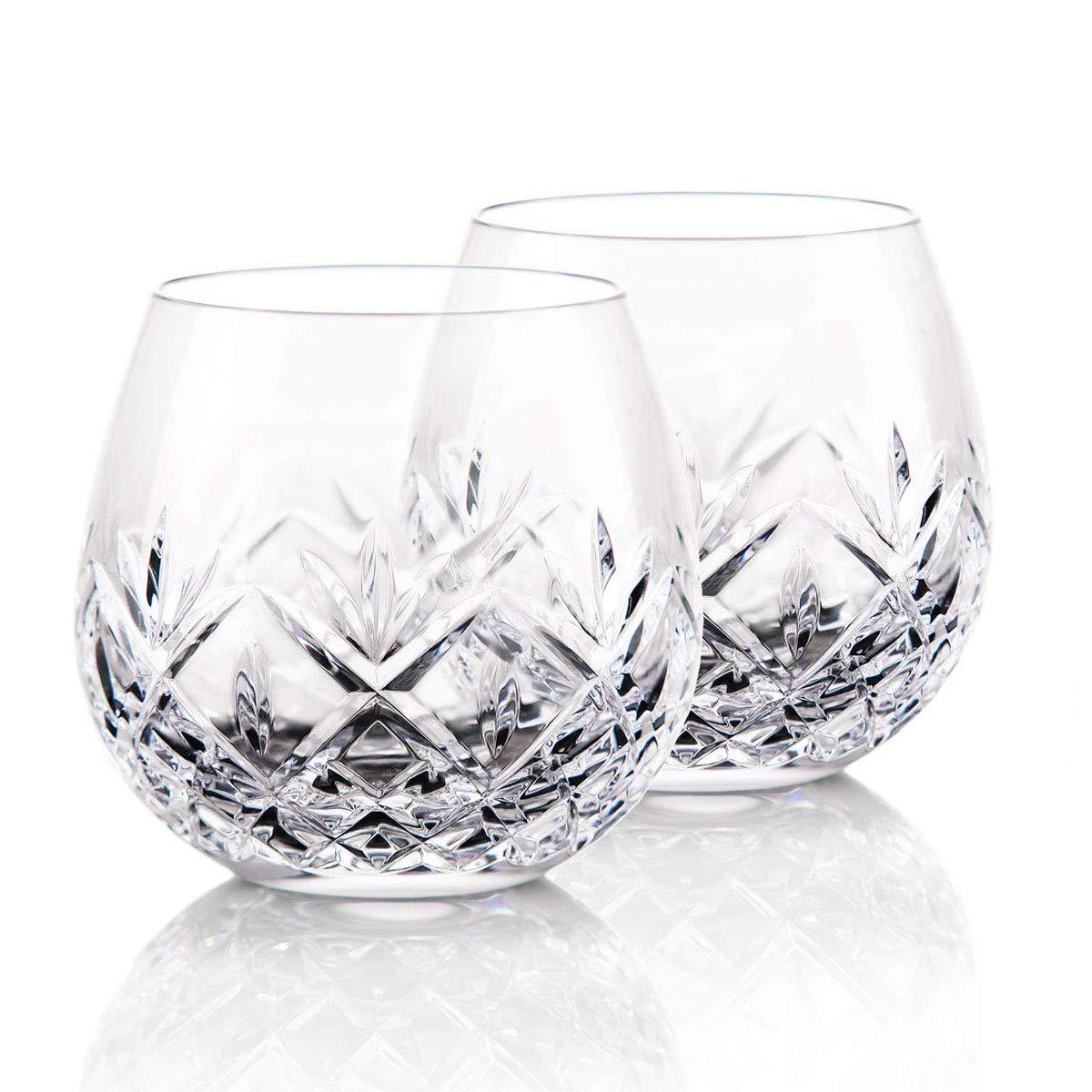 Waterford Crystal, Huntley Stemless Light Red, Pinot Noir Wine Glasses, Pair
