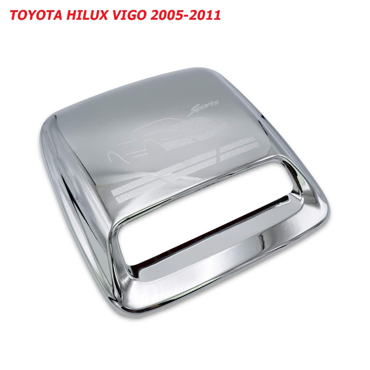 Nonstops Scoop Hood Bonnet Cover Chrome Fits Toyota Hilux Vigo Champ Fortuner 2005 2010 by Nonstops