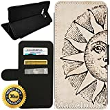 Flip Wallet Case for Galaxy S8 (Devine Sun) with Adjustable Stand and 3 Card Holders | Shock Protection | Lightweight | by Innosub