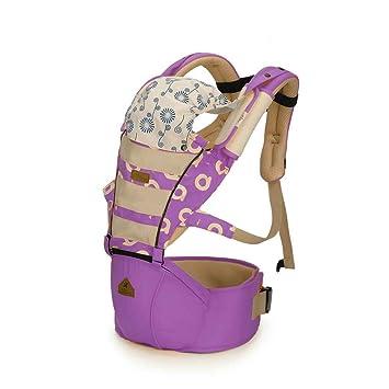 Focus AIEBAO - Mochila para bebés de 3 a 36 meses, transpirable, con asiento de cadera, color morado A6629: Amazon.es: Bebé