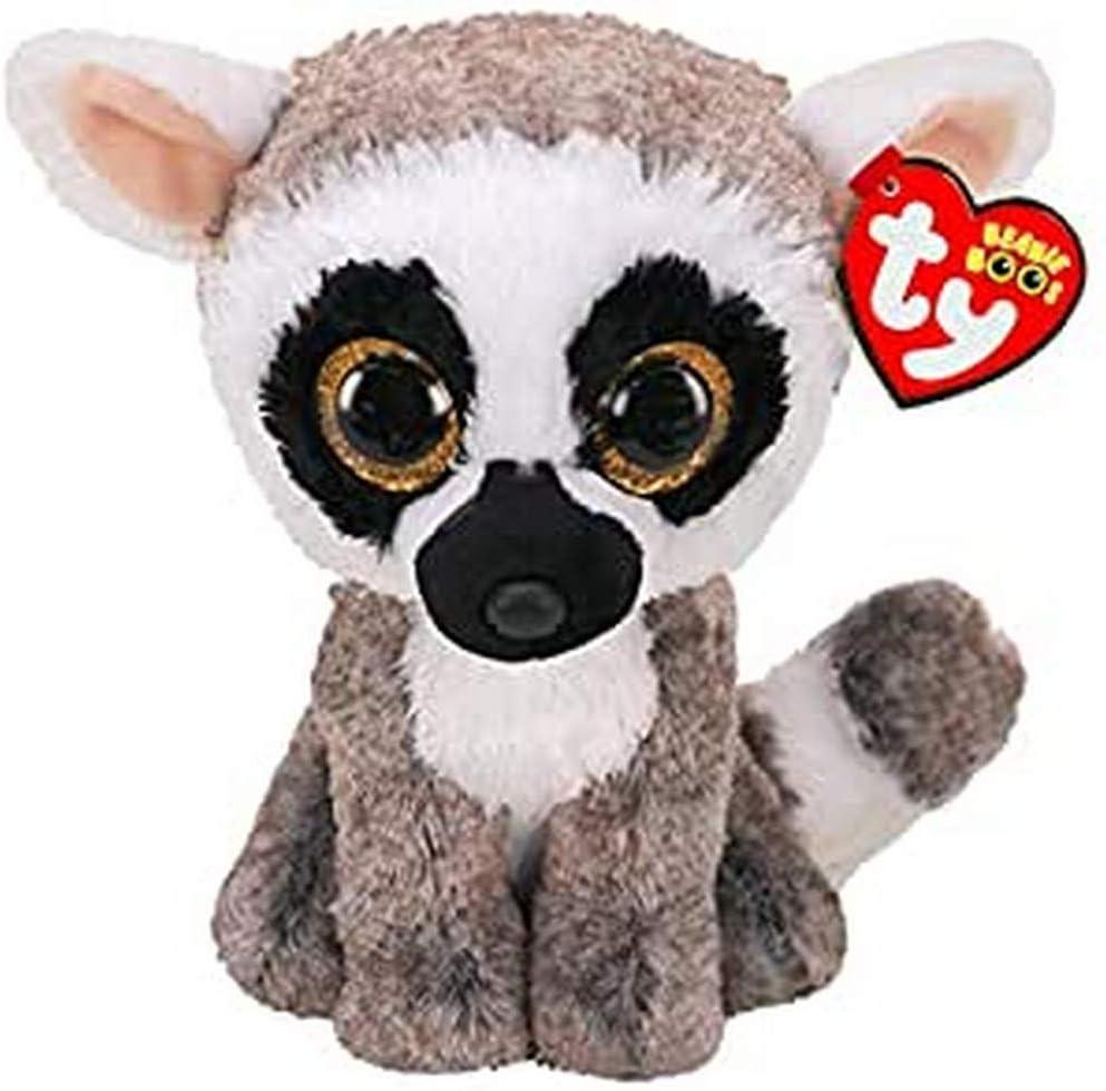 Ty 36224 Lemur Plush Toy, Multicoloured