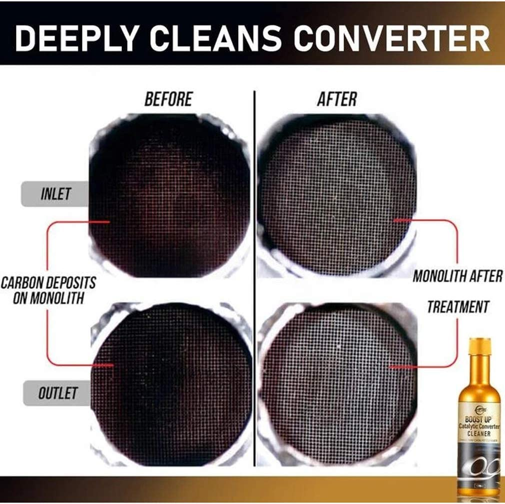 Boostup Catalytic Converter Cleaner Benzin Abgas Fit Katalysator Reiniger 120ml Auto